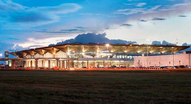 There is one new terminal in Pulkovo Airport.